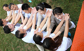 中国铁路物资上海公司2010年培训铁路物资,拓展培训活动,拓展培训,拓展活动,周琳娜案例