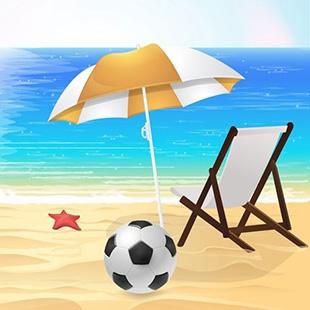 沙滩雨伞简笔画