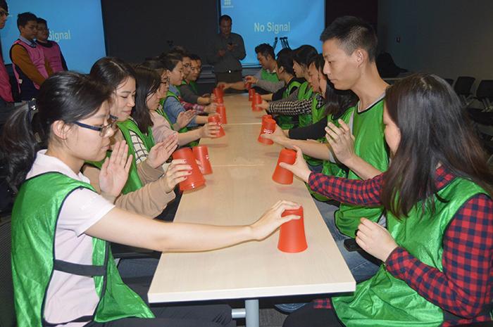 拓展项目——杯子舞|拓展训练,拓展培训,杯子舞