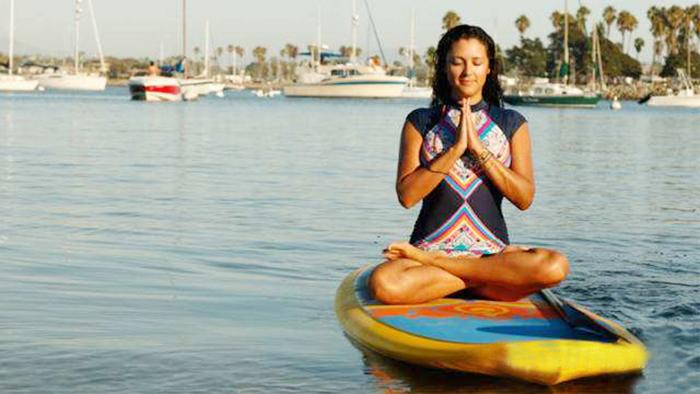 女生一定不要错过的水上桨板瑜伽!|桨板,水上桨板